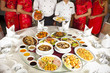 Chinese food, Chinese food with chef and cheongsam waitress