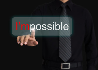 Hand and word I'm possible