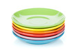 Set of colorful saucers