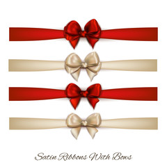 set of elegant bows