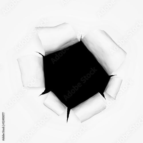 breakthrough paper hole 3d