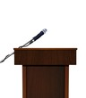 Seminar speech podium and microphone