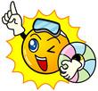 夏休みの太陽