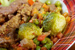 vegetables with spices and mincemeat