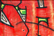 Colorful graffiti, abstract grunge grafiti background over textu