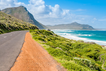 South Africa road by the side of the sea