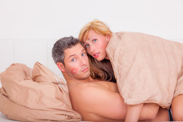 surprised sex couple