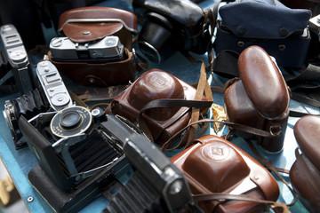 Kameras auf dem Flohmarkt