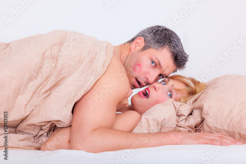 canvas print picture surprised sex couple