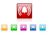 alarm vector glossy icon set