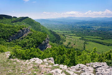 The Balkan mountain range near Gabrovo, Bulgaria