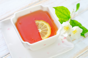 tea with lemon and jasmin