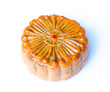 Chinese moon cake, isolated on white background