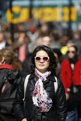 Asian woman visiting Camden Market