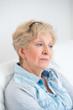 Portrait of an attractive elegant senior woman relaxingand dream