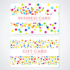 Colorful Business / Gift card template with bright pattern