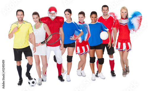 Large group of sports people