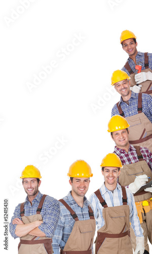 Portrait of happy industrial workers