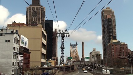 View of Ed Koch Queensboro Bridge & cableway from Manhattan