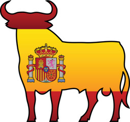 Spanish Flag and Symbol Combination