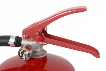 detail of fire extinguisher