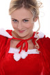 woman in Santa Claus costume