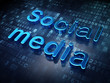 Social media concept: Blue Social Media on digital background