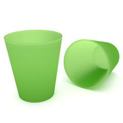 2 Grüne Trinkbecher