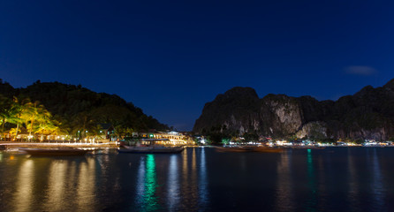 El Nido between day & night