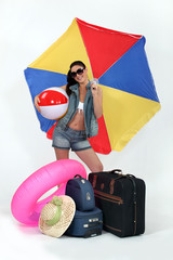 Woman ready for summer holiday