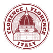 Grunge rubber stamp with words Florence, Italy inside, vector