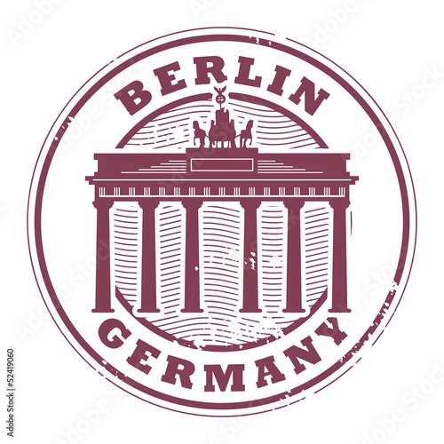 Grunge rubber stamp with words Berlin, Germany inside, vector
