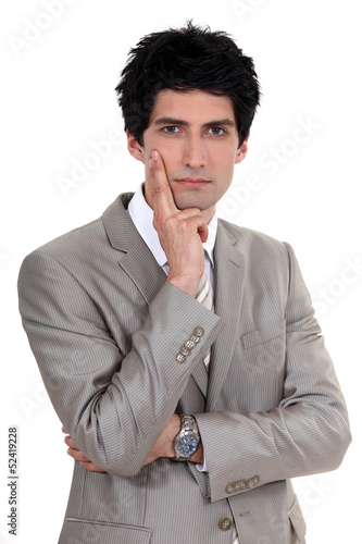 Businessman posing