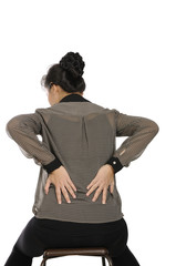 Business Woman Get Back Pain