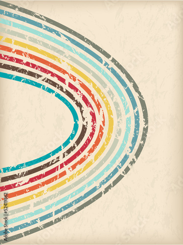 Abstract vintage brochure design