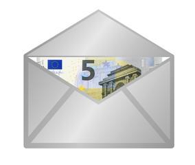 5 Euro Gutschein Cuvert