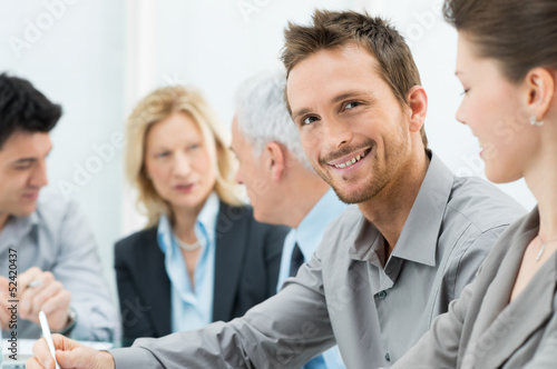 Portrait Of Happy Young Businessman