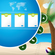 Summer holiday website template design