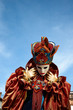 canvas print picture - Venetian costume attends Carnival of Venice.