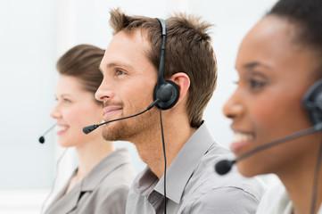Happy Telephone Operators