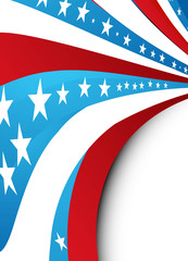 4th of july wave background vector