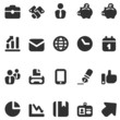 20 icons business in black