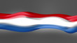Abstract flowing flag. The Netherlands. Loop.