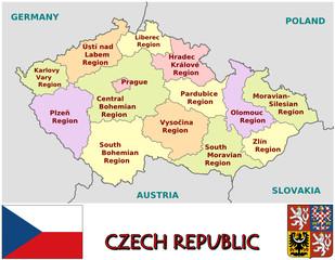 Czech Republic emblem  symbol administrative divisions