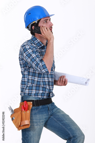 Construction foreman at work