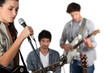 Young rock band with female vocalist