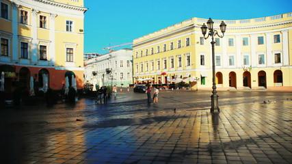 Ukraine. Odessa. Primorsky Boulevard in the morning