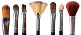 make-up brushes on white