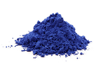 cloth whitener indigo powder on white