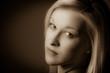 canvas print picture - Porträt einer jungen Frau